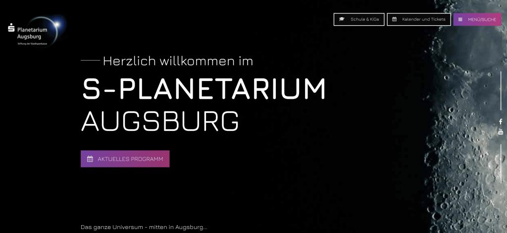 Webdesign Planetarium Augsburg